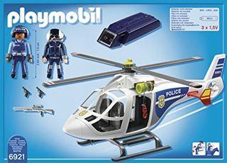 Immagine di Elicottero Della Polizia con Luci di Avvistamento