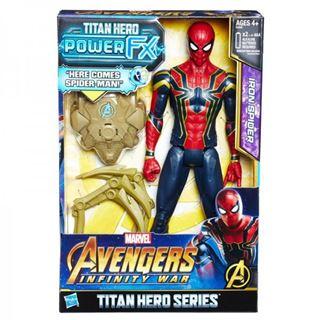 Immagine di Avengers Infinity War Personaggio Snodabile Iron Spider Titan Hero Power Fx Con Suoni
