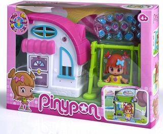 Immagine di Pinypon Mini Casetta Con Altalena Bianca/rosa