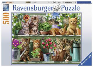 Immagine di Puzzle 500 Pz - Gatti Sullo Scaffale