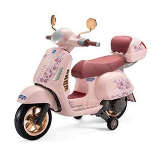 Immagine di Moto Vespa Rosa Mon Amour 12v (igmc0024)