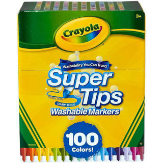 Immagine di Crayola Super Tips Washable Markers - 100 Count