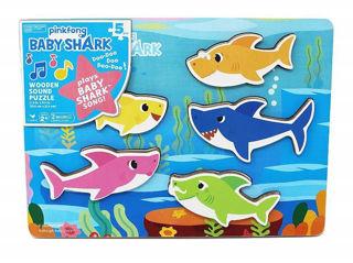 Immagine di Baby Shark Puzzle A Incastro In Legno Di Pinkfong