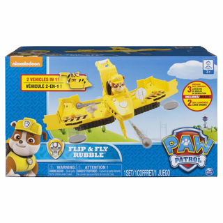 Immagine di Paw Patrol Rubble Veicolo Flip And Fly Spin Master