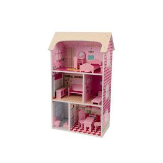Immagine di Grande Casa Delle Bambole In Legno Con Accessori