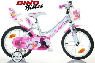Immagine di Bici Bicicletta Bambina Bimba Fuxia 16 Dino Bikes