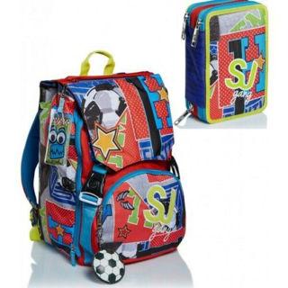 Immagine di Schoolpack Seven College & Sport Zaino Estensibile Big + Astuccio 3 Zip Attrezza