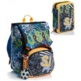 Immagine di Schoolpack Seven City Explorer Zaino Estensibile Big + Astuccio 3 Zip Attrezzato