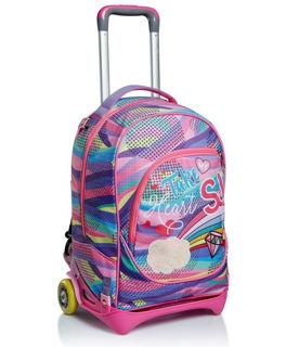 Immagine di Trolley Pastel Rainbow 33 Litri Sj Gang Scuola Zaino 3 In 1 Jack Cartella