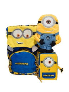 Immagine di Schoolpack Seven Minions Zaino Sdoppiabile + Astuccio 3 Zip + Peluche