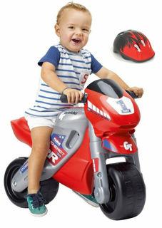 Immagine di Moto A Spinta Per Bambini Con Casco