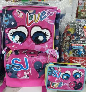 Immagine di Schoolpack Seven Facce Girl Zaino Estensibile + Astuccio 3 Zip Attrezzat 2020/21