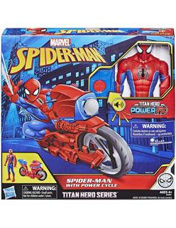 Immagine di Titan Hero. Spider-man 30 Cm Con Moto