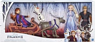 Immagine di Frozen Ii Set Con 5 Personaggi E Slitta