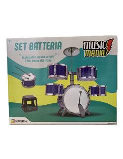 Immagine di Music Mania - Set Batteria Con Sgabello