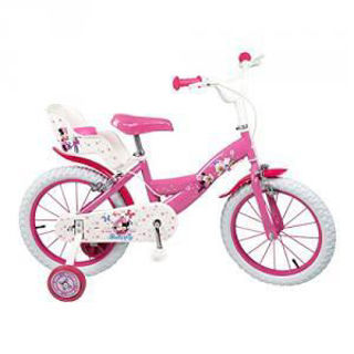 """Immagine di Bicicletta 16"""" Disney Minnie Con 2 Freni"""