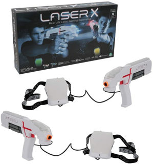 Immagine di Laser x Blaster, Indoor E Outdoor Con 2 Laser Blaster, 2 Ricevitori, Luci E Suoni,