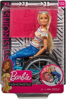 Immagine di Barbie Fashionista Con Sedia A Rotelle Ggl22