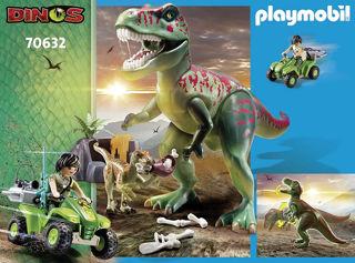 Immagine di L'attaco Dei Dinos T Rex Con Raptor E Quad