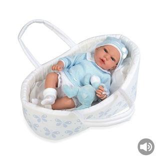Immagine di Arias - Bebè Azzurro Cm.40 In Culla New Model