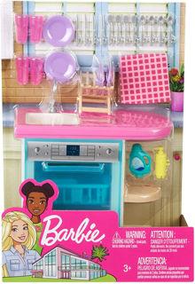 Immagine di Barbie Arredamenti Da Interni, Playset Accessori Con 3 Mobili, Assortimento A Sorpresa
