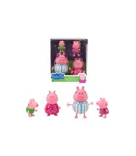 Immagine di Set 4 Personaggio Famiglia Peppa Pig, Famiglia Refresh