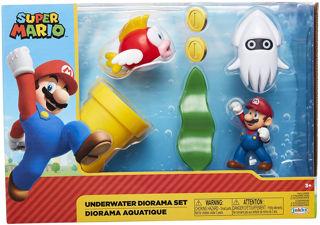 Immagine di Nintendo Super Mario Diorama Set Subacqueo Con Figures Da 6 Cm