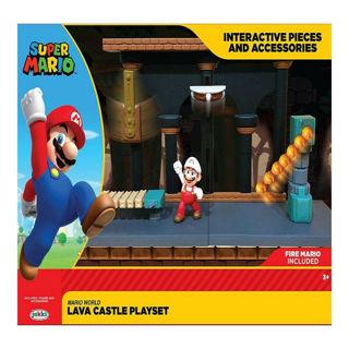 Immagine di Super Mario Nintendo Castello Di Lava Diorama Set