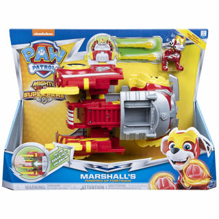 Immagine di Paw Patrol- Mighty Pups Super Paw Paw Patrol Paws, Camion Dei Pompieri Trasformabile Powered Up Di Marshall,