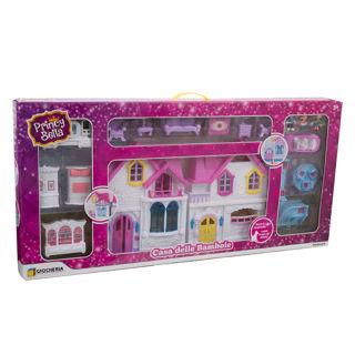 Immagine di Casa Delle Bambole Con Luci E 3 Bambole Incluse