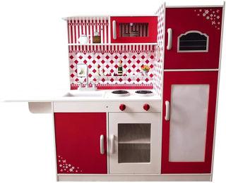 Immagine di Cucina Rossa In Legno.grande Cucina In Legno