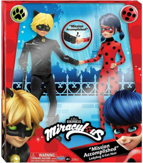 Immagine di Miraculous Doll Bambola 2 Pack Ladybug Cat Noir