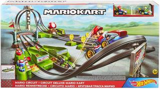 Immagine di Hot Wheels Circuito Mario kart, Playset Con Lanciatori,