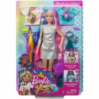 Immagine di Barbie Fantasy Capelli Bambola Con Sirena E Unicorno Dal Look Nuovo
