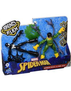 Immagine di Spiderman Vs Doc Ock Bend E Flex Set 2 Figures 15cm Hasbro