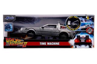 Immagine di Time Machine Ritorno Al Futuro 2 In Scala 1:24 Con Luci Die Cast,
