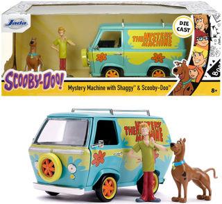 Immagine di Scooby-doo Mystery Machine In Scala 1:24 Die-cast Con Personaggi Di Scooby E Shaggy,