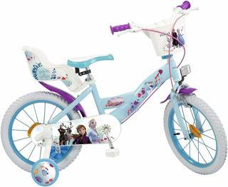 "Immagine di Bicicletta Frozen 2 Elsa Anna Olaf Disney 16"""