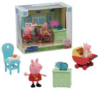 Immagine di Peppa Pig - Stanza Pig Mini Playset Con Peppa E Il Piccolo Alex