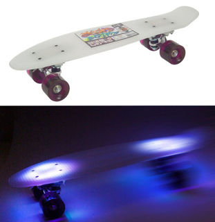 Immagine di Skateboard Con Luce Led 57 x 15 Cm