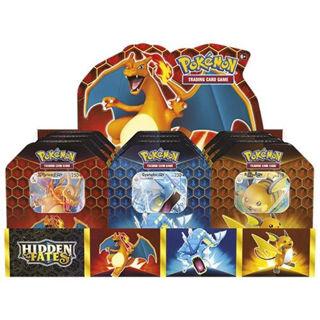 Immagine di Pokemon Hidden Fates Tins Set Of 3 Charizard Gyarados Raichu Tcg -inglese-